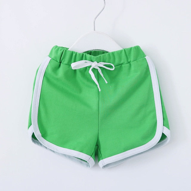 Multicolour Drawstring Cotton Sport Shorts
