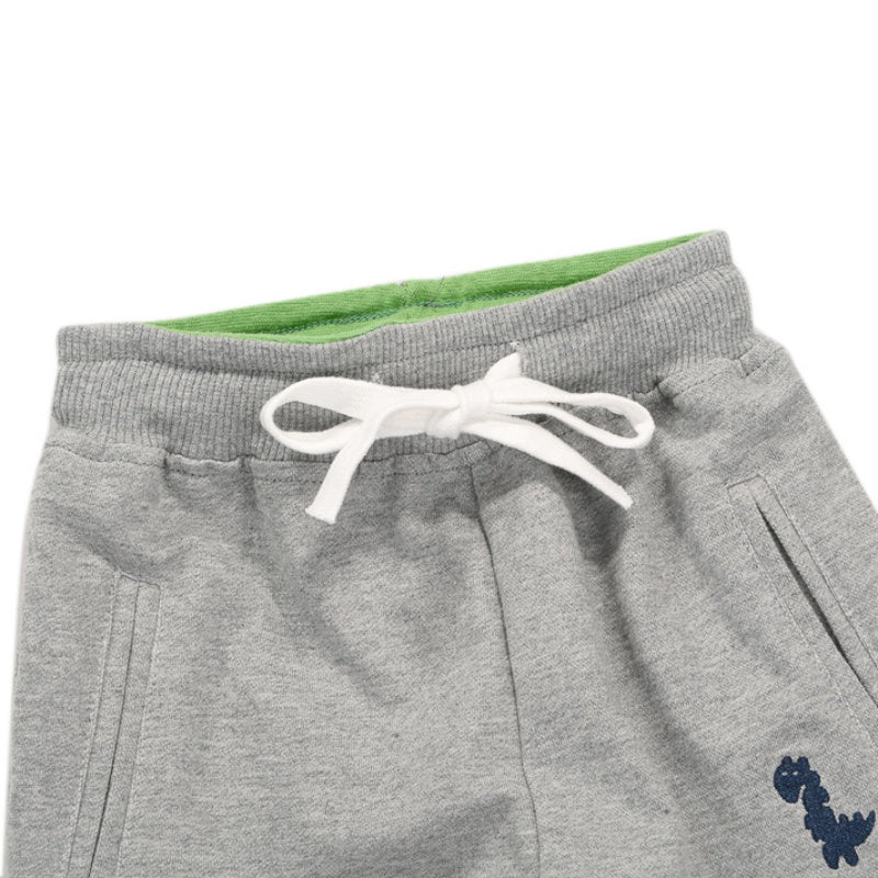 Dino Hop Drawstring Stretch Pants Trousers