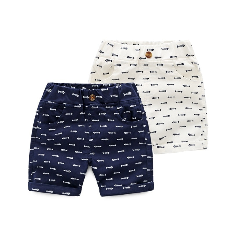 Sailor Fish Bone Button Shorts