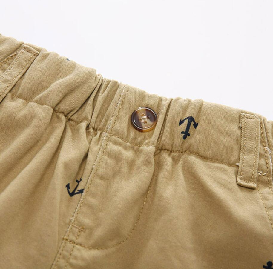 Navy Anchor Summer Shorts