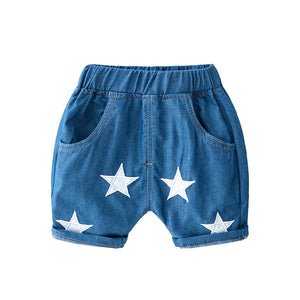 Starry Blue Night Denim Shorts