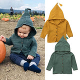 Little Green Elf Long Sleeve Button Coat