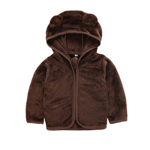 Cozy Autumn Bear Fluffy Ears Hoodie Jacket