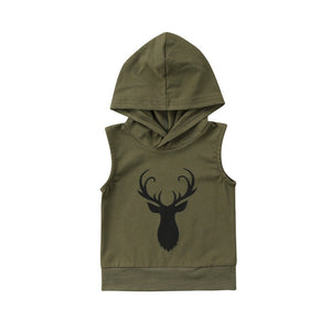 Hooded Sleeveless Oh Deer Sweatshirt