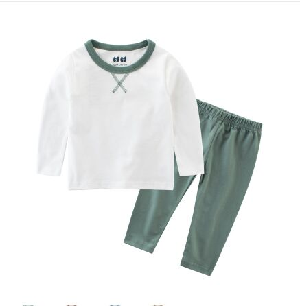 Basic Solid Color Two Piece Pajamas