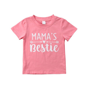 Mama's Bestie Casual Cotton T-Shirt