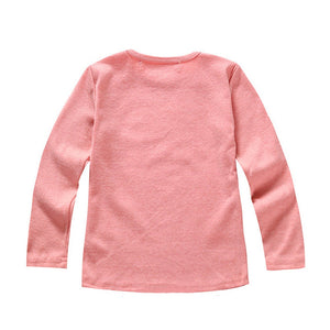 Basic Solid Color Long Sleeve Cotton T-Shirt
