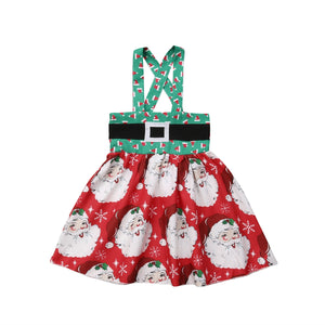 Hello Santa Overall Party Skirt