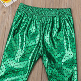 Metallic Mermaid Bell Bottom Long Pants