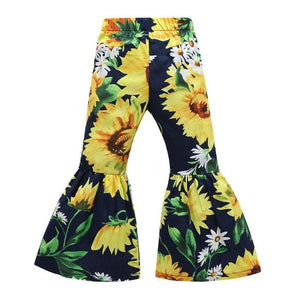 Back To The 70's Bell Bottom Sunflower Pants