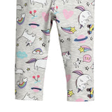 Sweet Unicorn And Rainbow Printed Warm Leggings