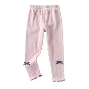 Little Cute Bow Knot Warm Casual Leggings