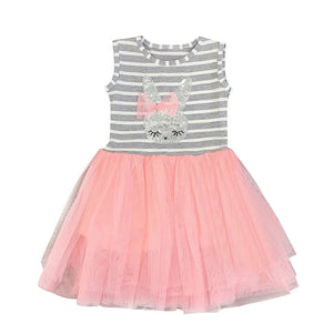 Barb The Bunny Striped Pink Tulle Dress