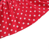 Red Polka Dot Flare Black Dress
