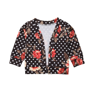 Boho Polka Dot Floral Stylish Cardigan