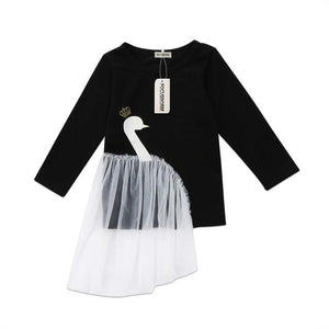 Swan Princess With Tulle Long Sleeve Sweater