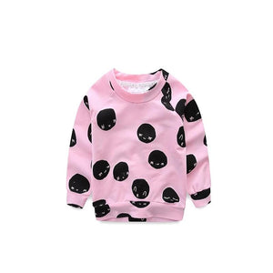Pink With Black Dot Knitted Sweater