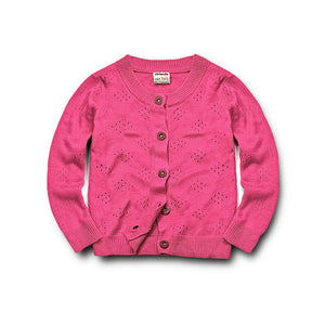 Classic Pink Button Down Knitted Cardigan