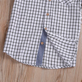 Plaid Button Down Short Sleeved Shirt