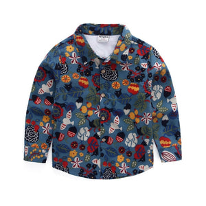 Hello Flora Long Sleeved Casual Button Down Shirt