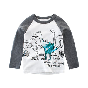 Stand Out From The Crowd Blue Dino Long Sleeve T-Shirt