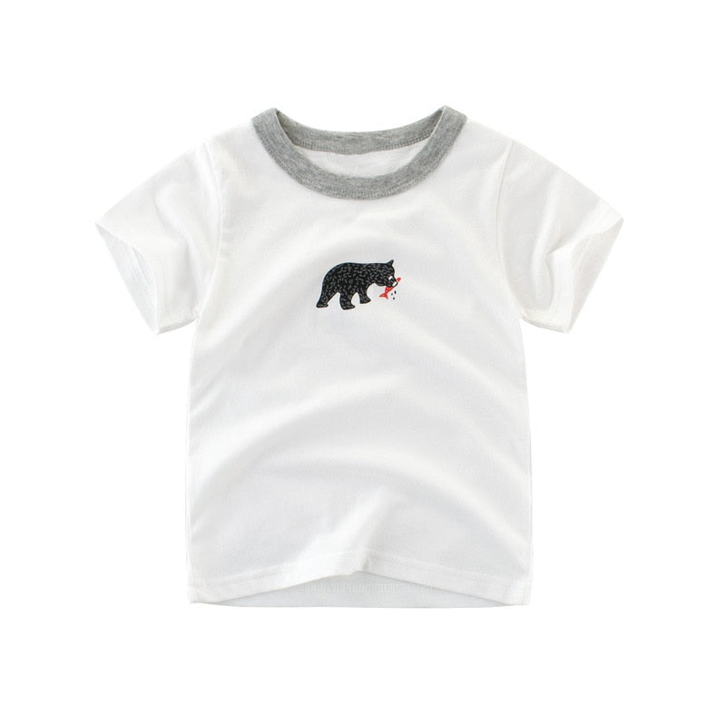 The Little Bear Adventures Cotton T-Shirt - Tops - baby-petite