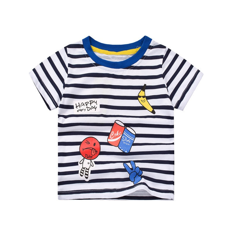 Happy Everyday Striped T-Shirt - Tops - baby-petite