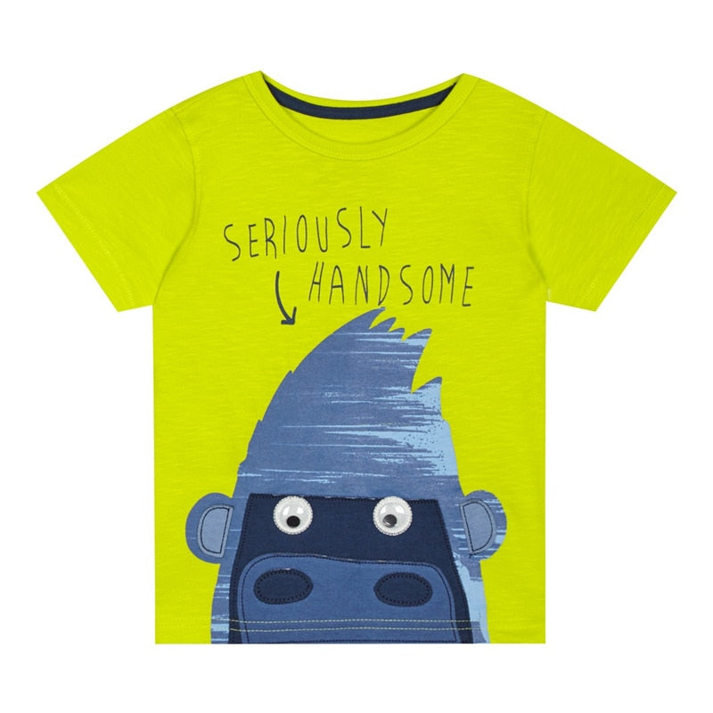 Seriously Handsome Cotton T-Shirt - Tops - baby-petite