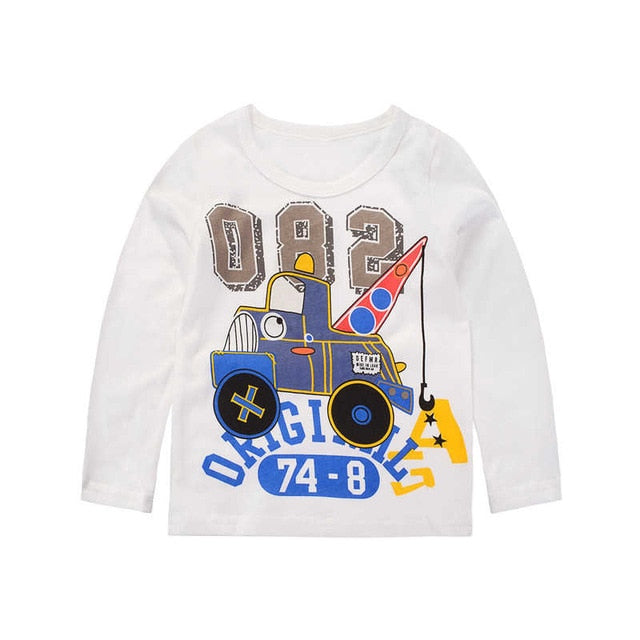 New Truck N' Load Casual Long Sleeve Cotton T-Shirt - Tops - baby-petite