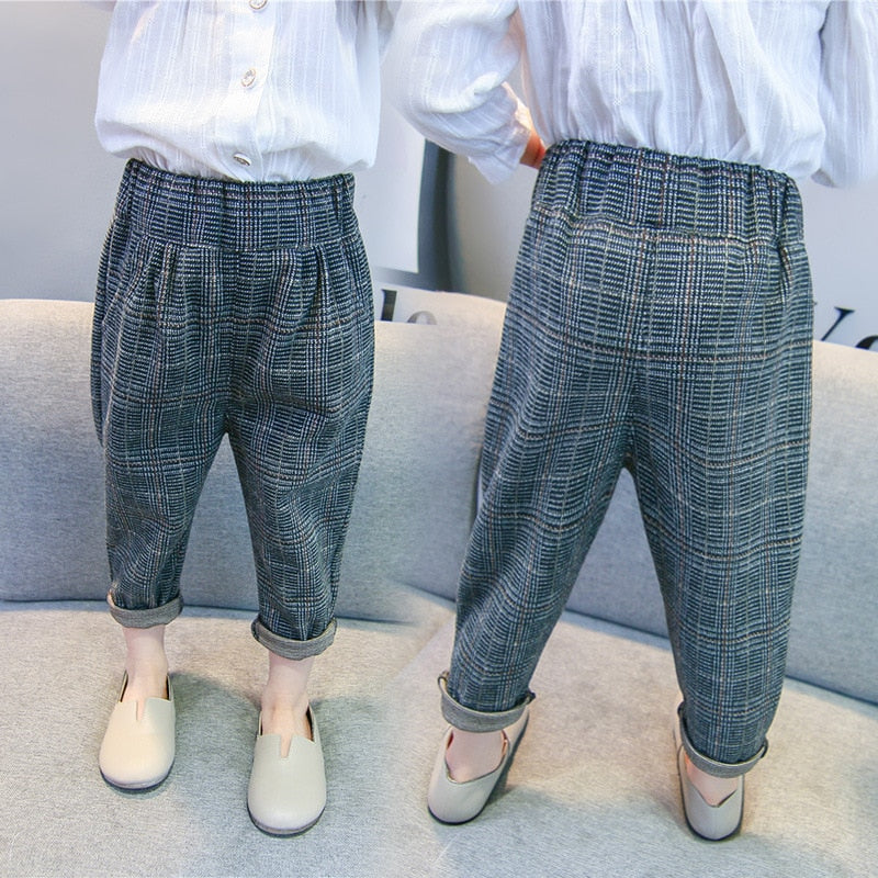 Gingham Plaid Trousers