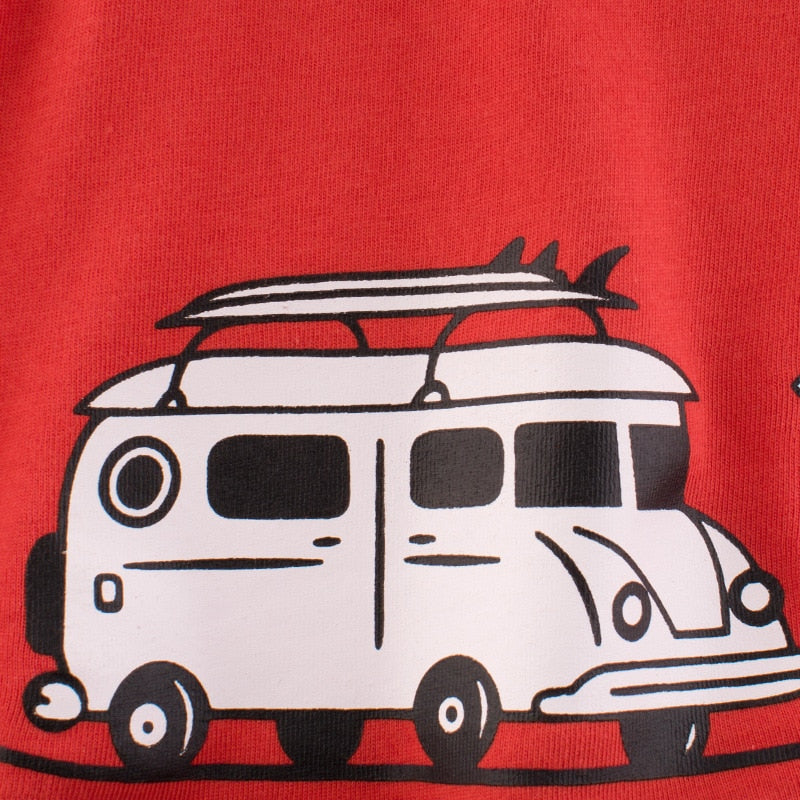 Surf's On Surfer Red T-Shirt