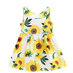 Sweet Sunflower Sleeveless Summer Dress