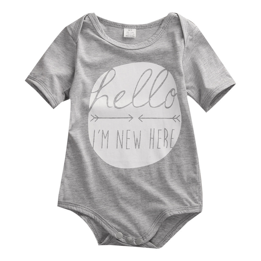 Hello I'm New Here Romper - Rompers - baby-petite
