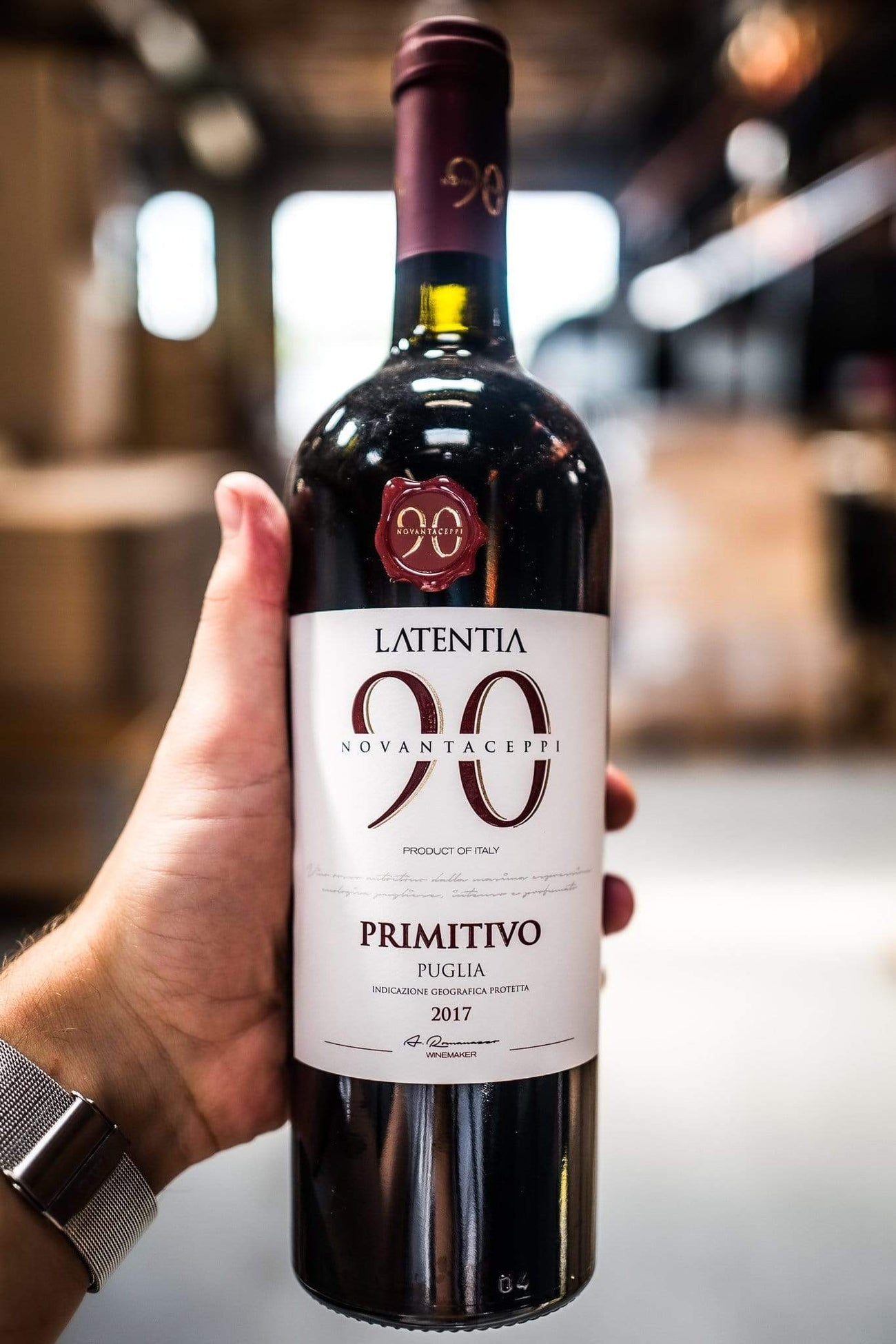 Latentia Novantaceppi 90 Primitivo 2017