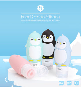 4 Pack Refillable Cute Penguin Travel Containers - FDA, TSA Approved & BPA Free - Hot Buy Trend