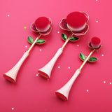 Rose Foundation Makeup Brush Set - 3pcs Premium Cosmetic Brushes - Hot Buy Trend