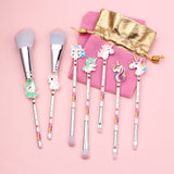 Unicorn Makeup Brush 7pcs Set With Pouch - Hot Buy Trend