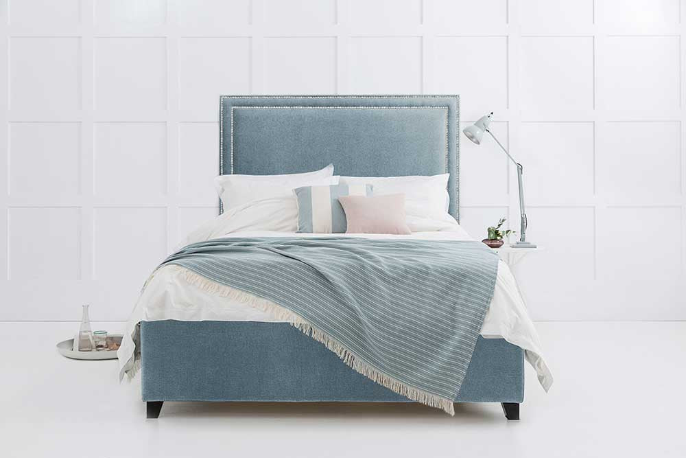 Charlotte - Studded Headboard Storage Bed