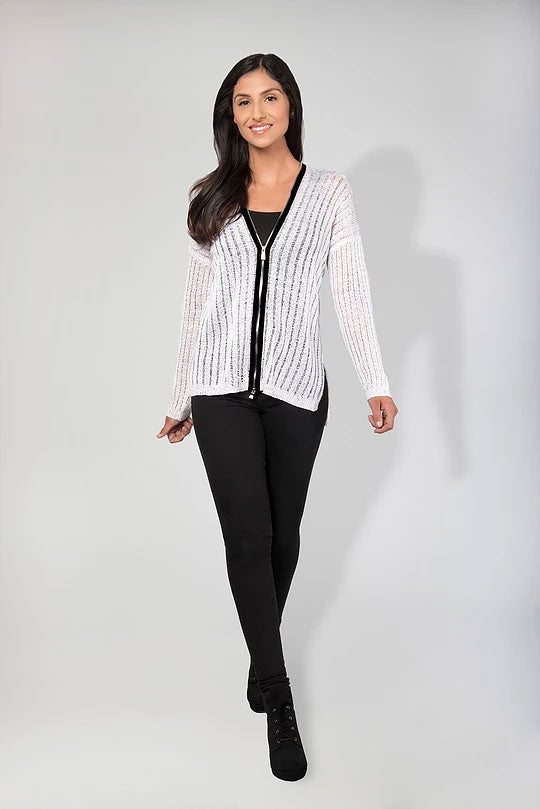 DROP NEEDLE ZIP CARDIGAN