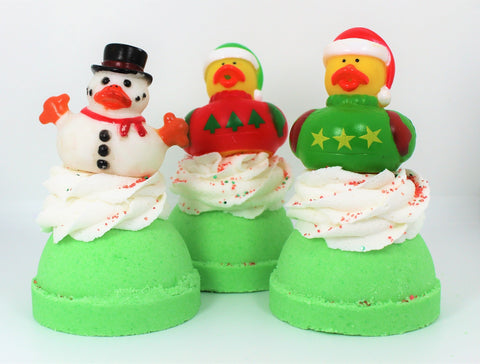 Holiday Ducky Bubble Bath Bomb