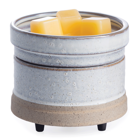 Rustic White 2-in-1 Wax Melt & Candle Warmer