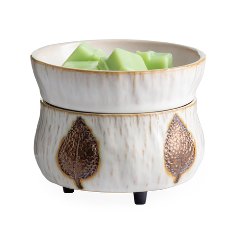 Bronze Leaf 2-in-1 Wax Melt & Candle Warmer