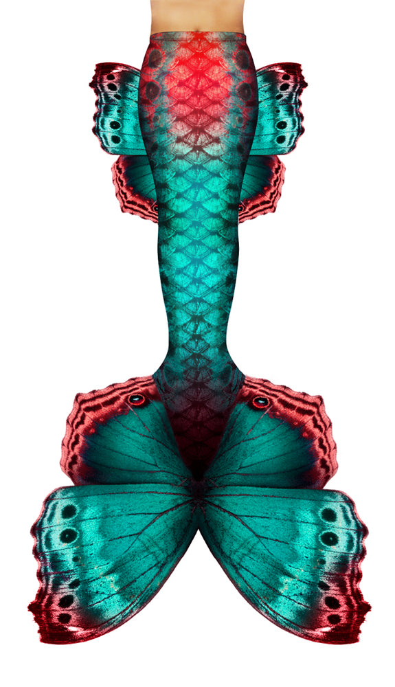 Aqua Butterfly Mermaid Tail