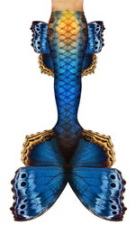Blue Butterfly Mermaid Tail