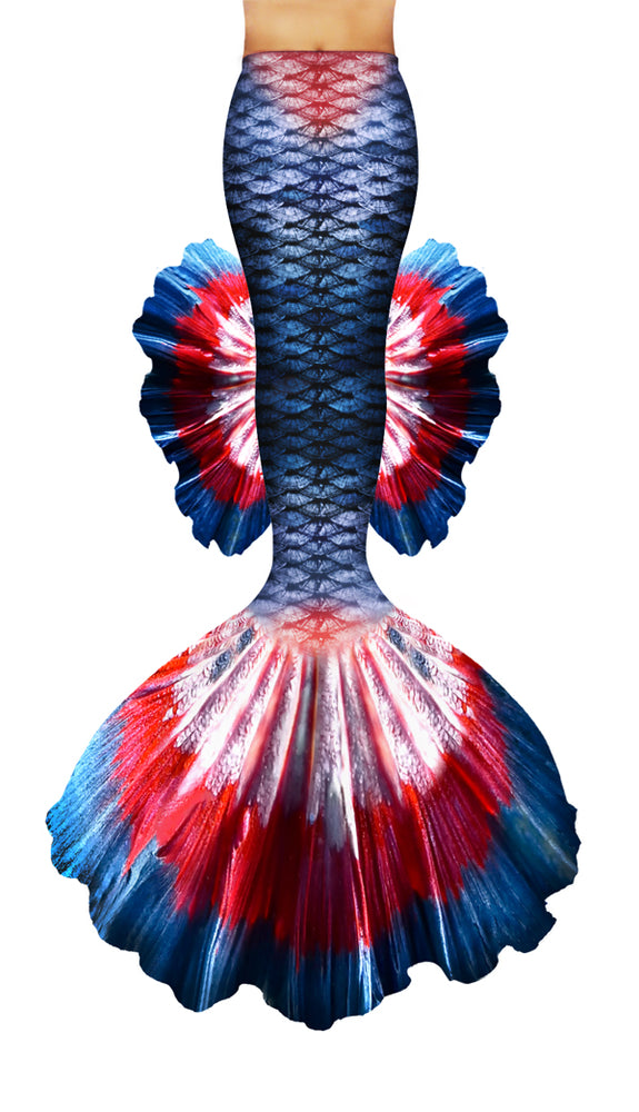 Star Spangled Betta Mermaid Tail