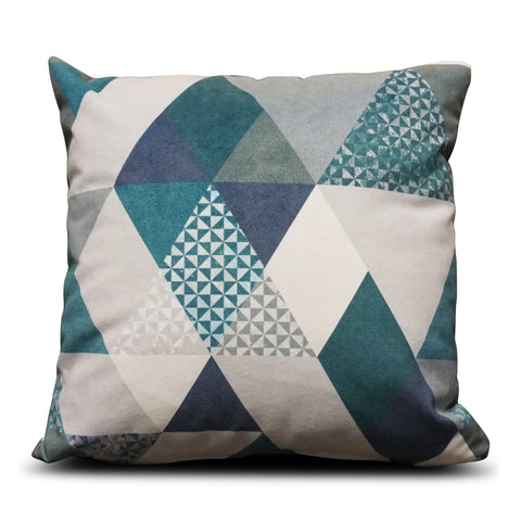 Teal Diamond 40cm x 40cm Cushion