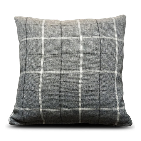 Grey Maurice Check 40cm x 40cm Cushion