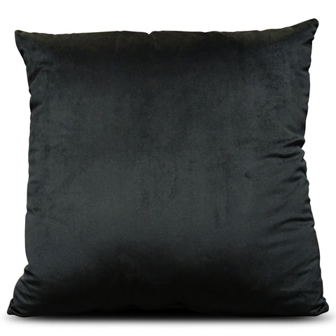 Black Velluto Velvet 56cm x 56cm Cushion