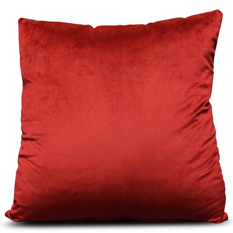 Red Velluto Velvet 56cm x 56cm Cushion