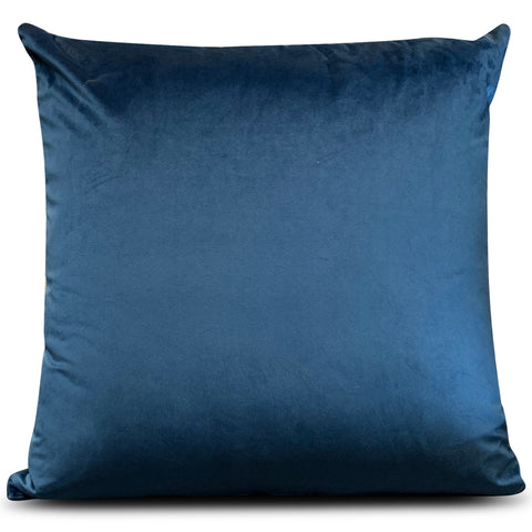 Blue Velluto Velvet 56cm x 56cm Cushion